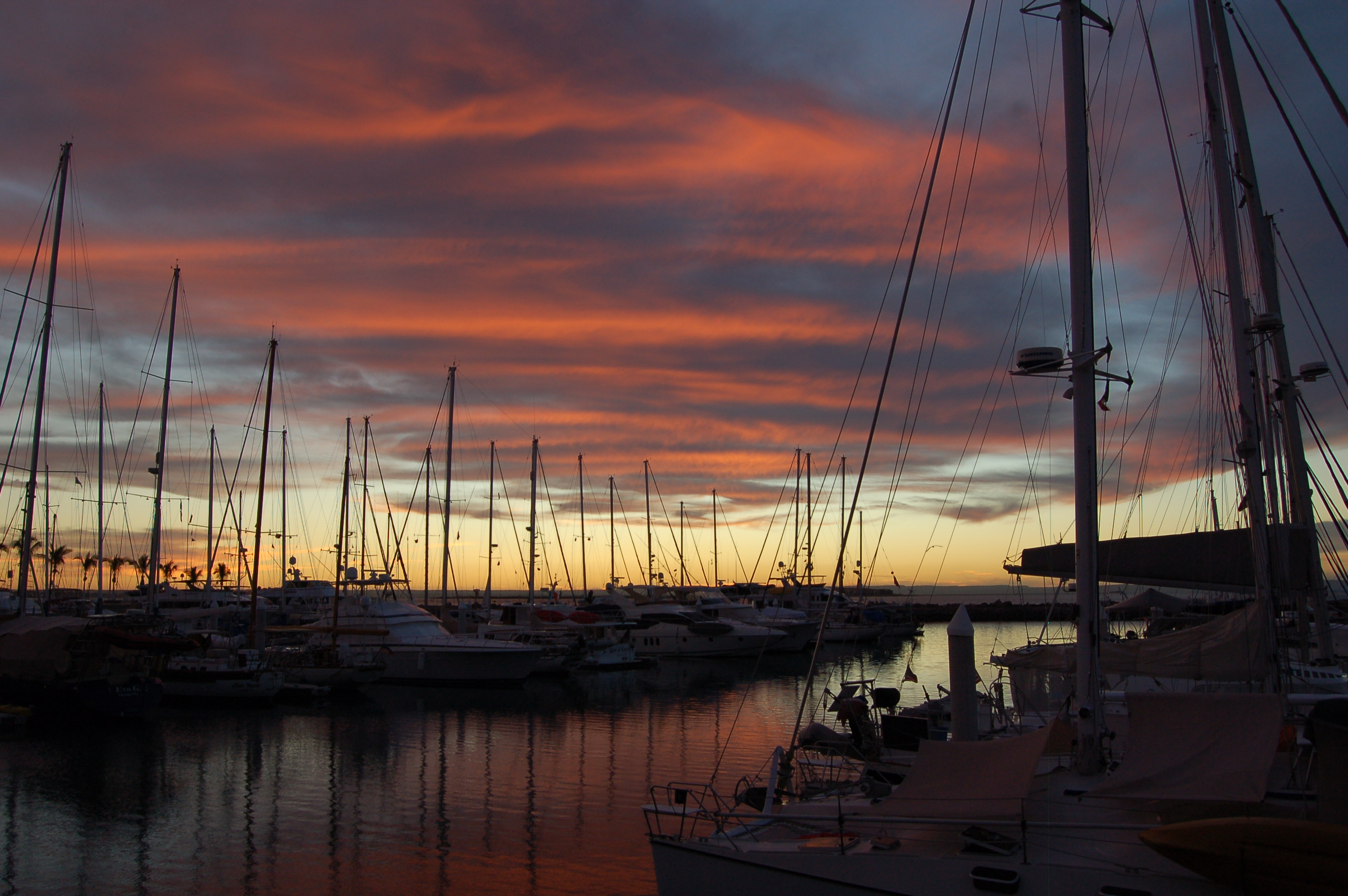 Another perfect sunset at the Palmira Marina, La Paz