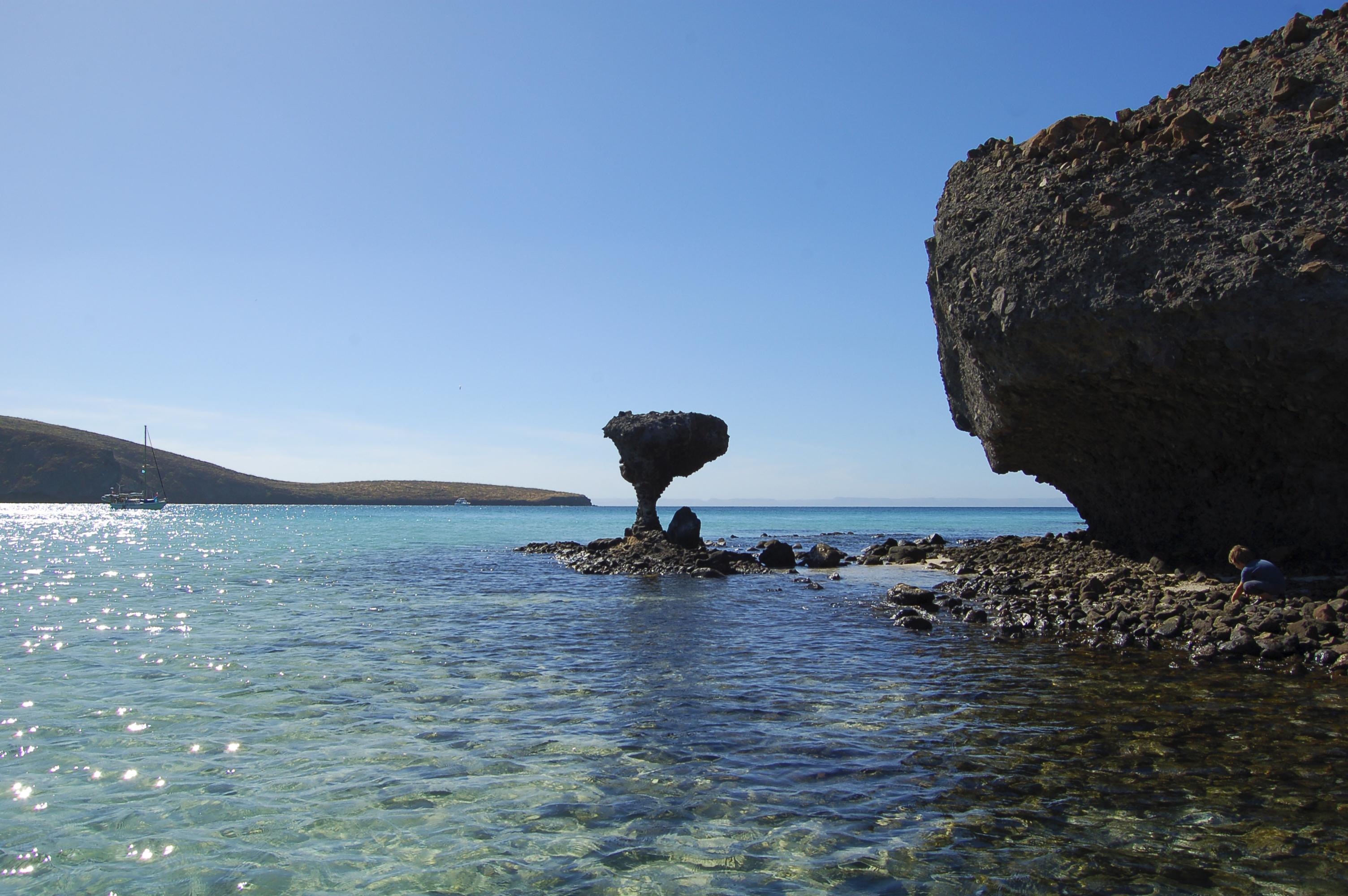Mushroom Rock, Balandra Beach, La Paz, Baja Sur