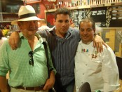 Hans Backhoff Sr., Fernando Gaxiola and Chef Martin San Roman