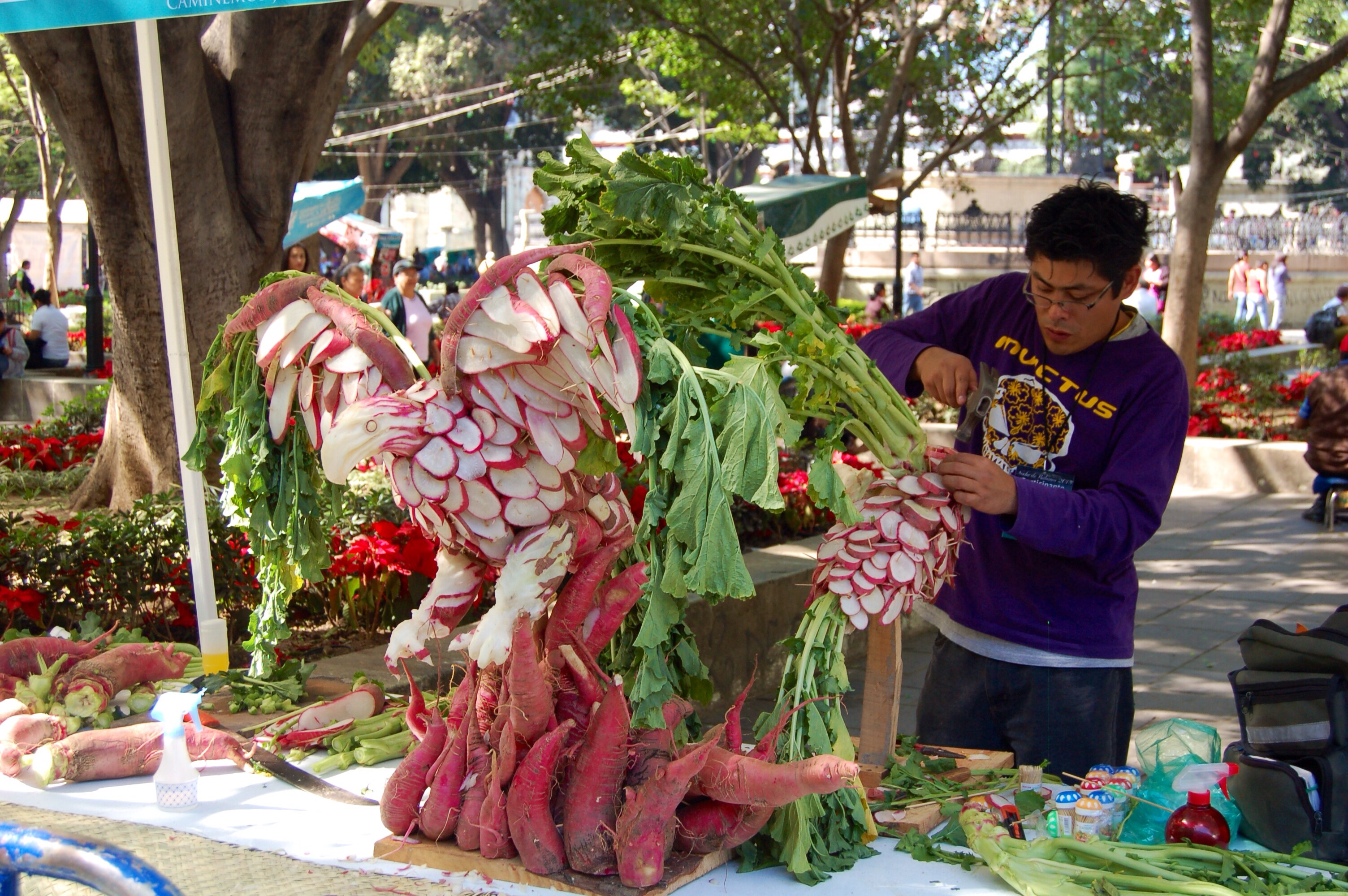 Night Of The Radishes Playing With Food In Oaxaca A