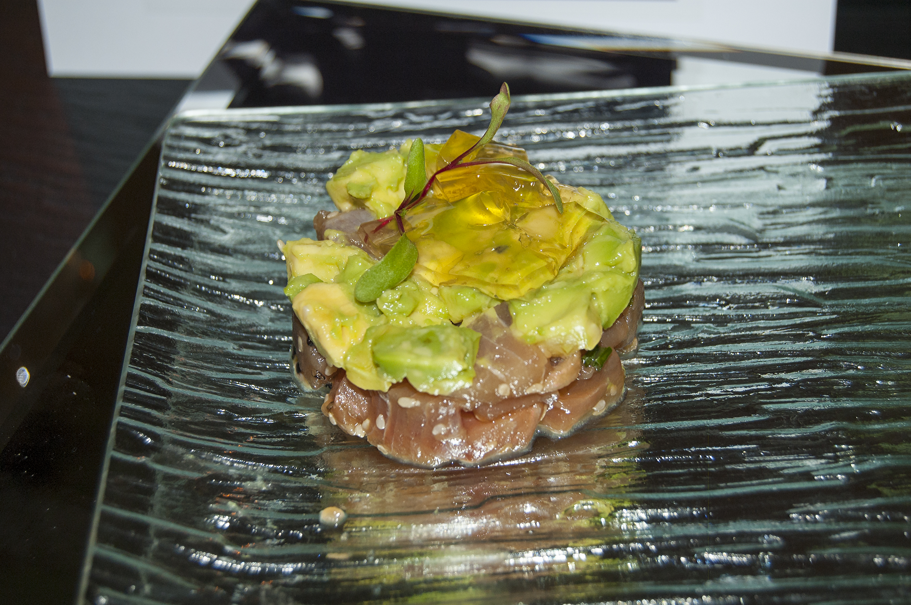 Yellowtail tartare with yuzu gelée