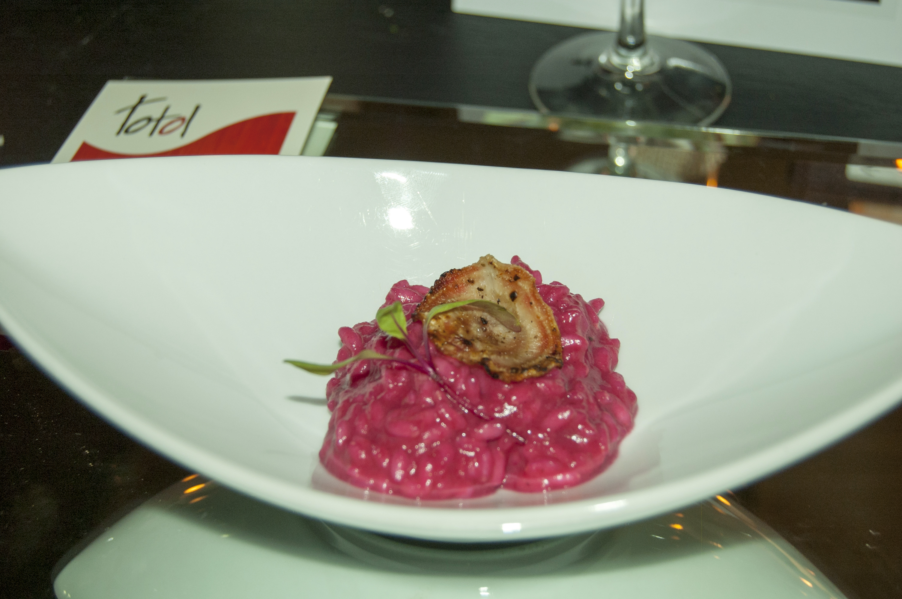 Rissoto with roasted beet