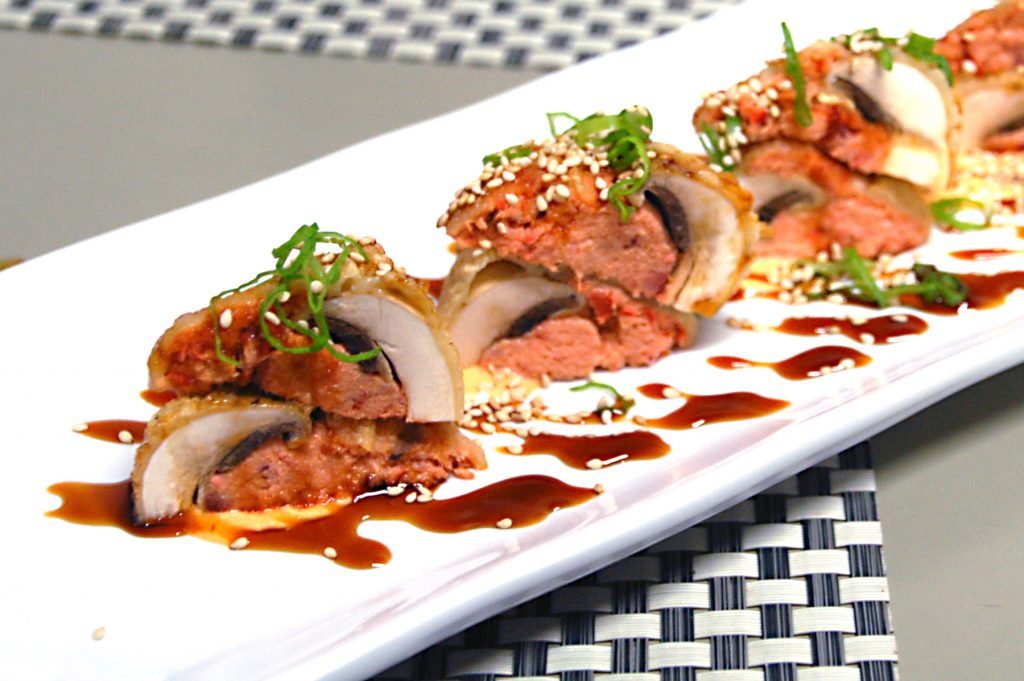 Stuffed mushrooms at Koi Sushi, Playas de Tijuana, Tijuana, Baja California, Mexico