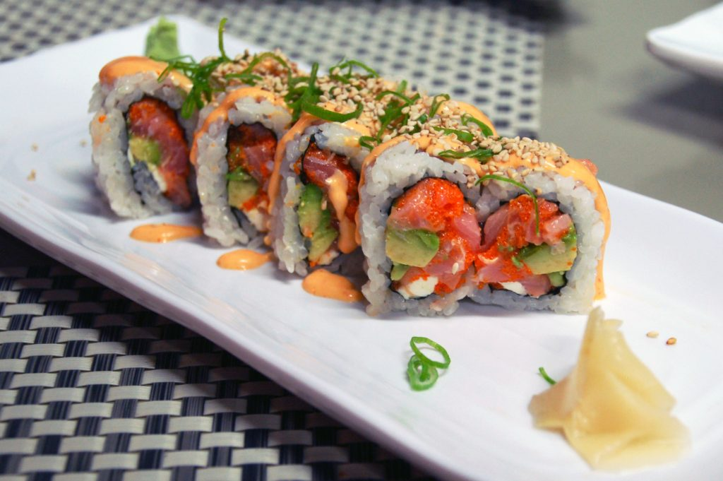 Spicy tuna roll at Koi Sushi, Playas de Tijuana, Tijuana, Baja California, Mexico