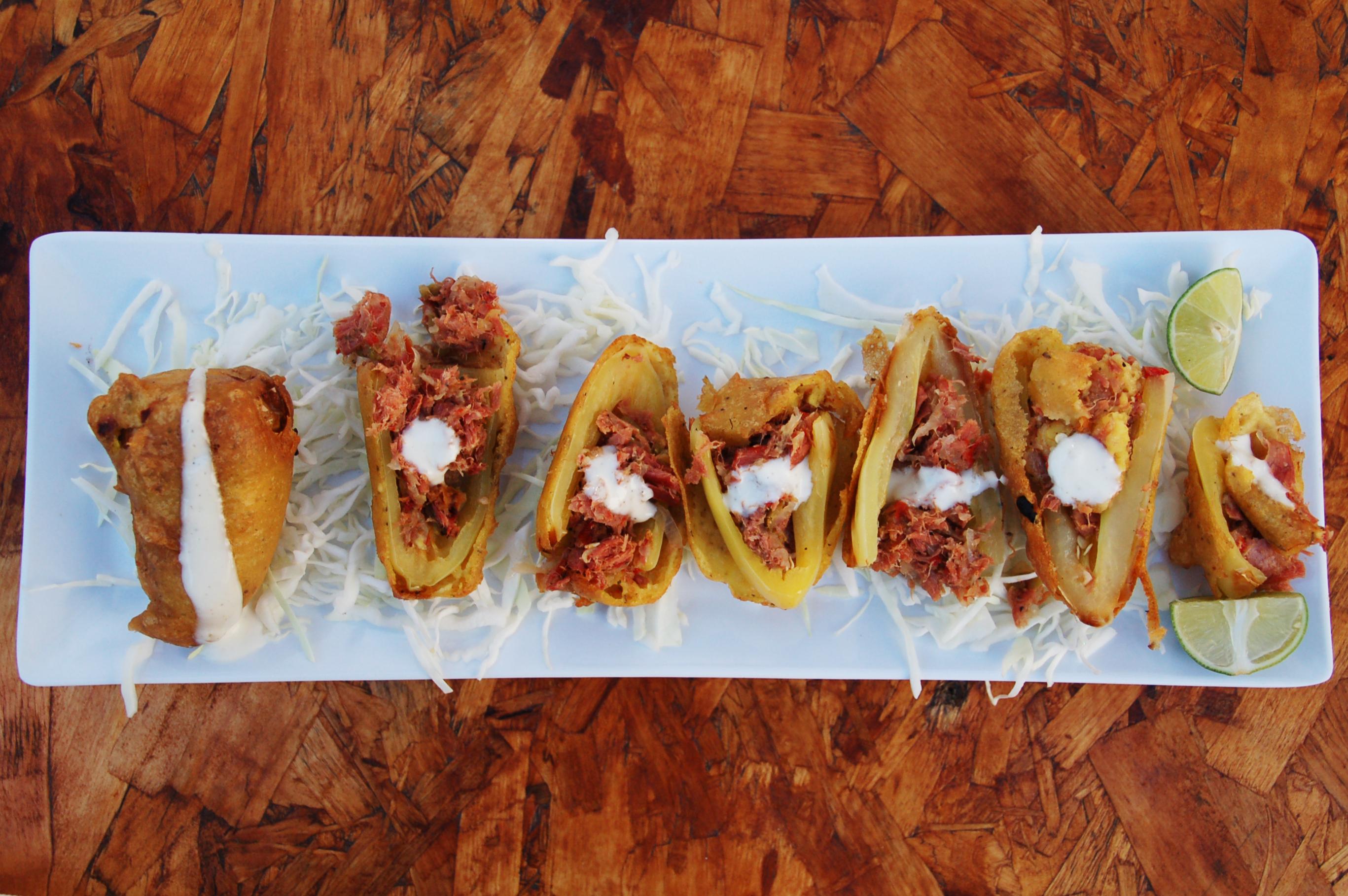 Smoked marlin stuffed chili gueros at Otto's Grill, Telefonica Gastro Park, Tijuana, Baja California, Mexico