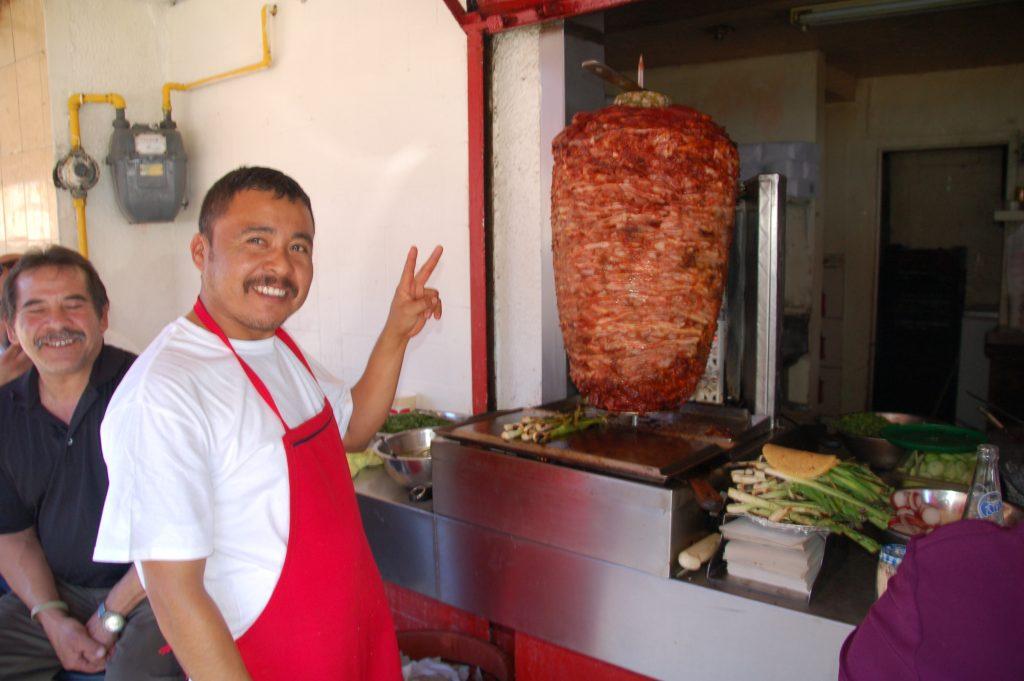 Tacos adobado, Tijuana, Baja California, Mexico