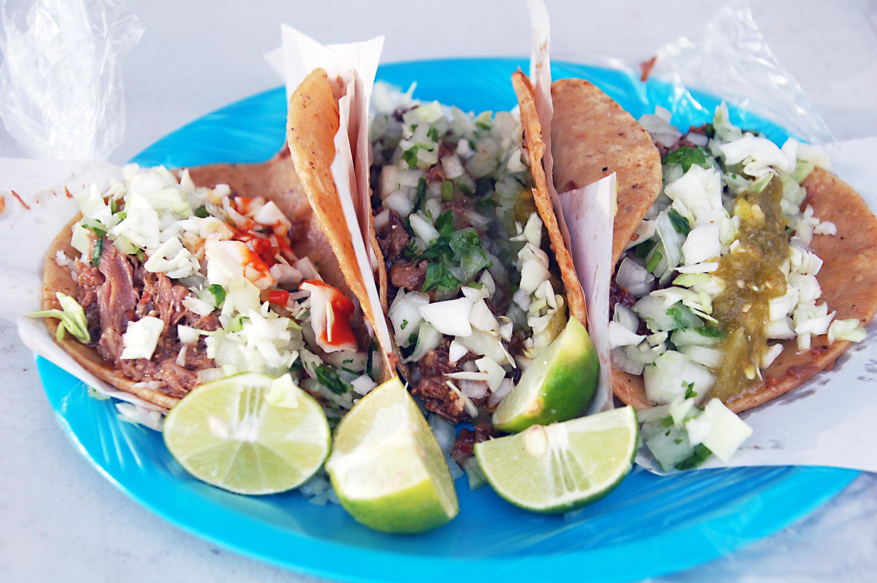 Tacos de borrego at El Cesarin, Mexicali, Baja California, Mexico