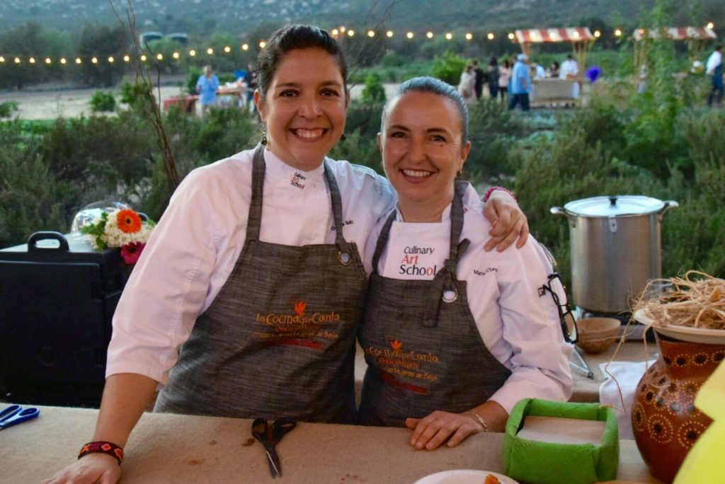 Chefs Ofelia Núñez and Marisol Otaola, La Cocina Que Canta, Rancho La Puerta, Tecate, Baja California, Mexico
