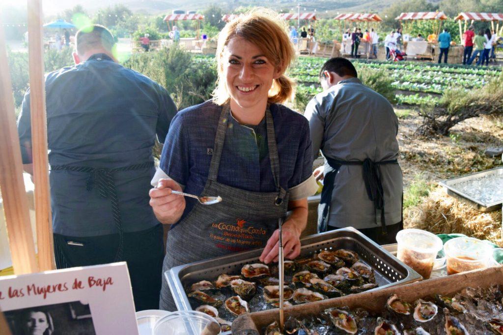 Chef Maylin Chavez of Portland's Olympia Oyster Bar, La Cocina Que Canta, Rancho La Puerta, Tecate, Baja California, Mexico