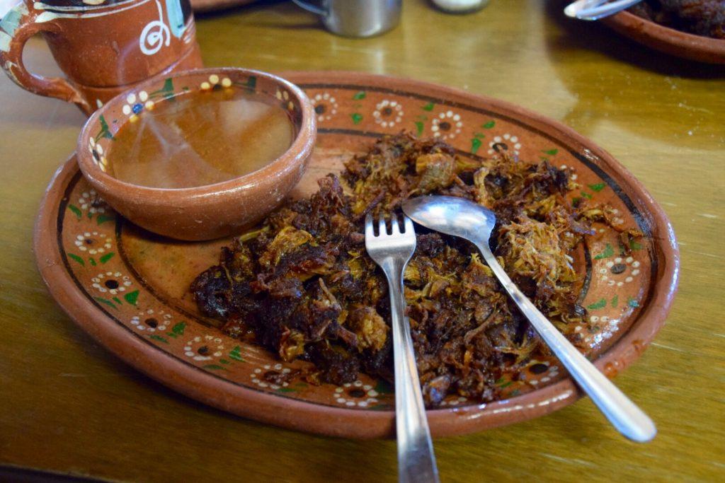 Borrego tatemado at La Cocina de Doña Estela, Valle de Guadalupe, Baja California, Mexico