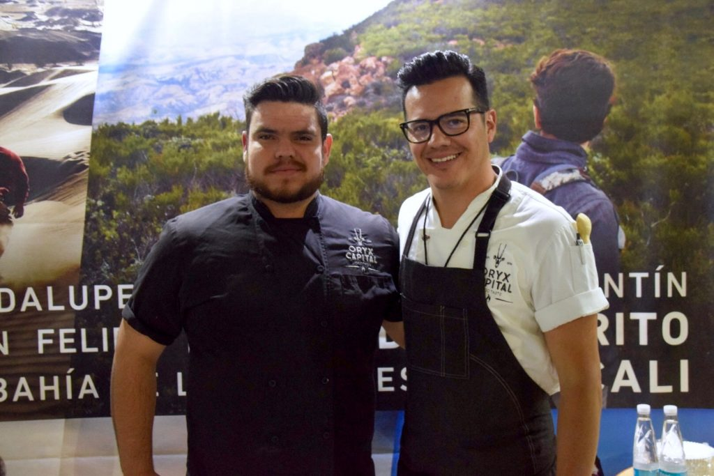 Chefs Francisco Gutierrez and Ruffo Ibarro of Oryx Capital, FMGM, CENART, Mexico City, Mexico