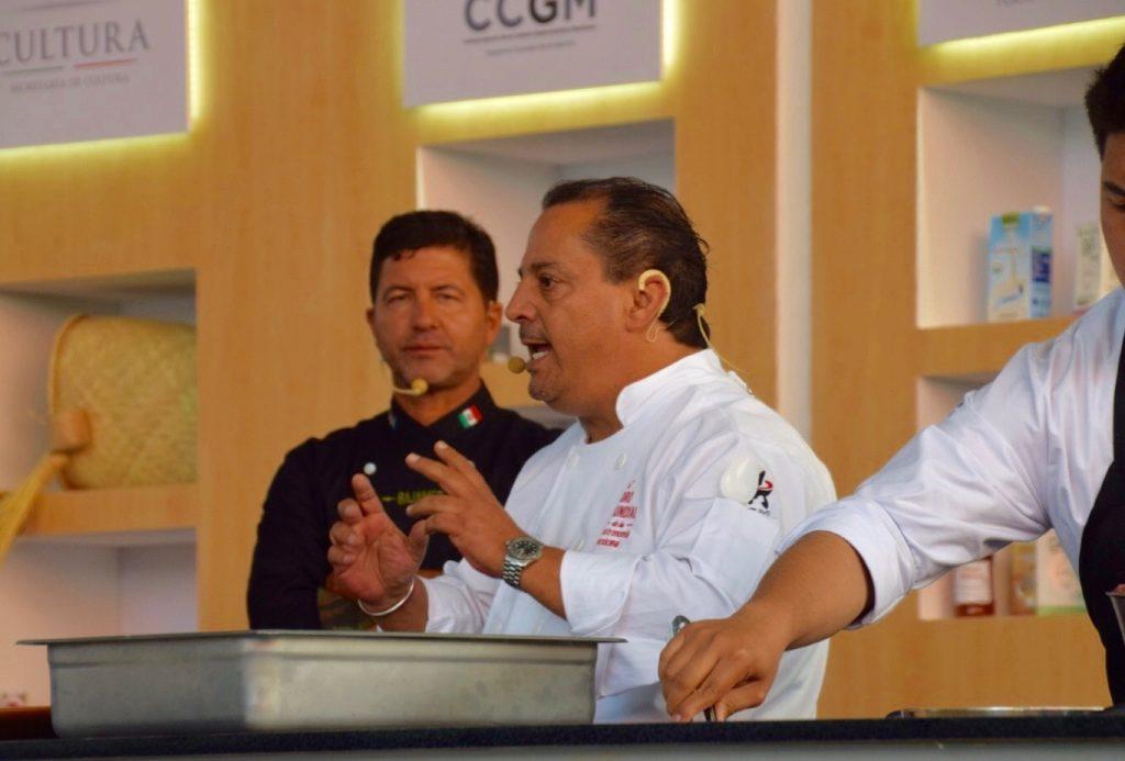 Chefs Miguel Angel Guerrero and Martin San Roman, FMGM, CENART, Mexico City, Mexico