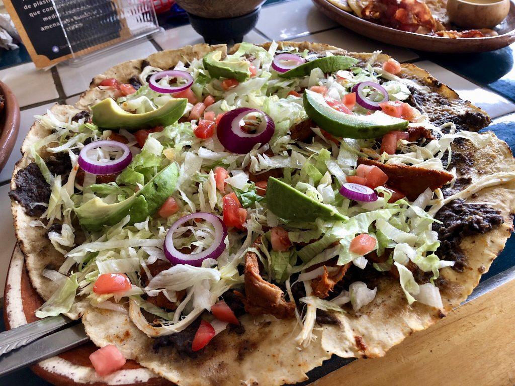 Oaxacan tlayuda, Alicia León, Restaurante Autóctanos Malinalli, Tecate, Baja California, Mexico