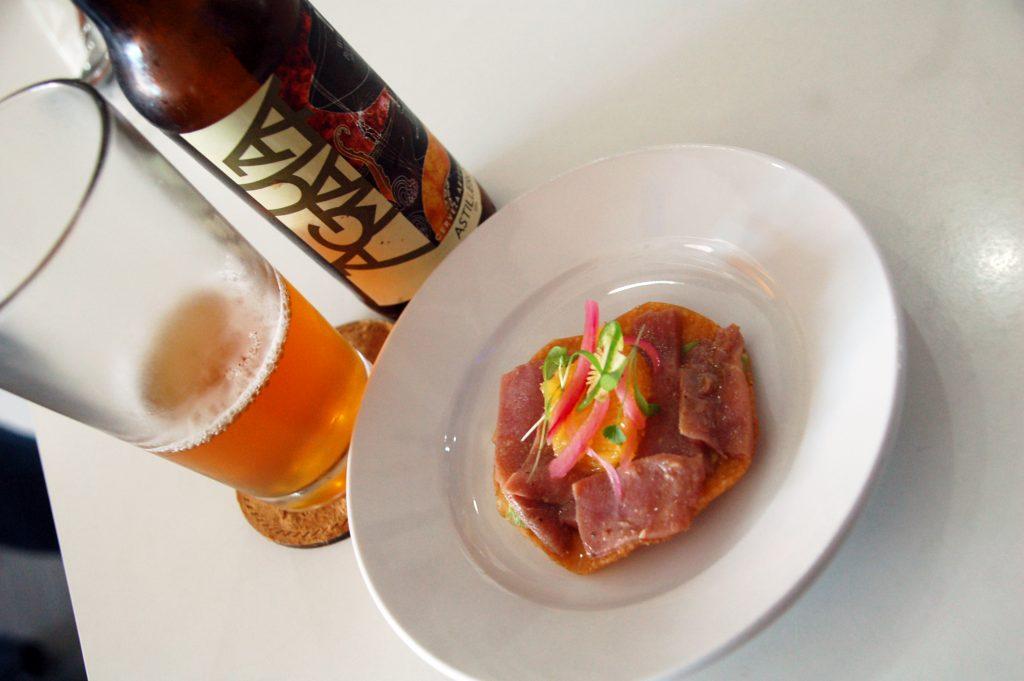 Tuna tostada at Navio Seafood, Tijuana, Baja California, Mexico
