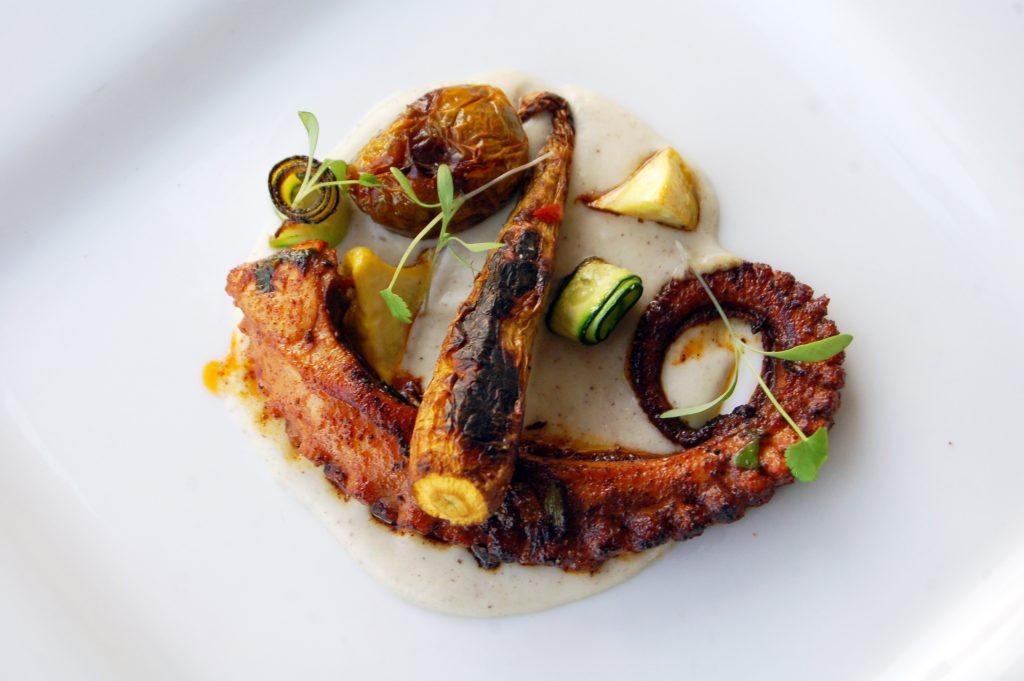 Octopus al pastor at Navio Seafood, Tijuana, Baja California, Mexico