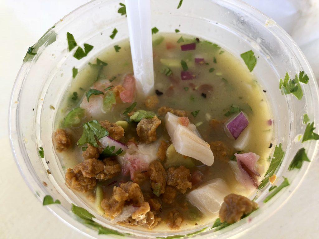 Mixed seafood cocktail at El Pizón, Ensenada, Baja California, Mexico