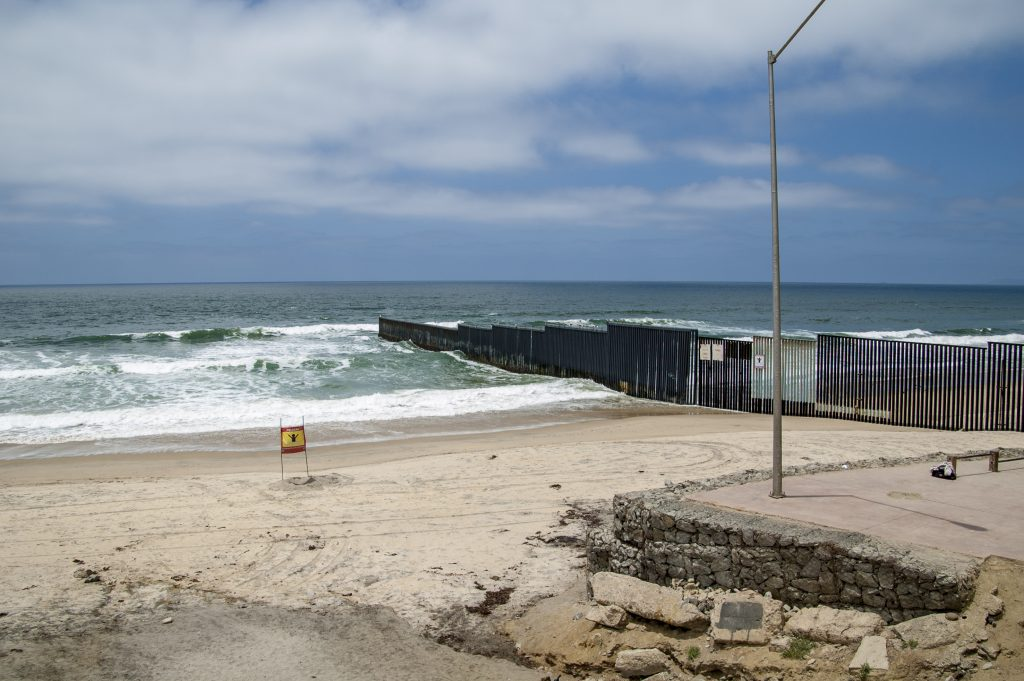 Border Fence at Playas de Tijuana, Tijuana, Baja California, Mexico