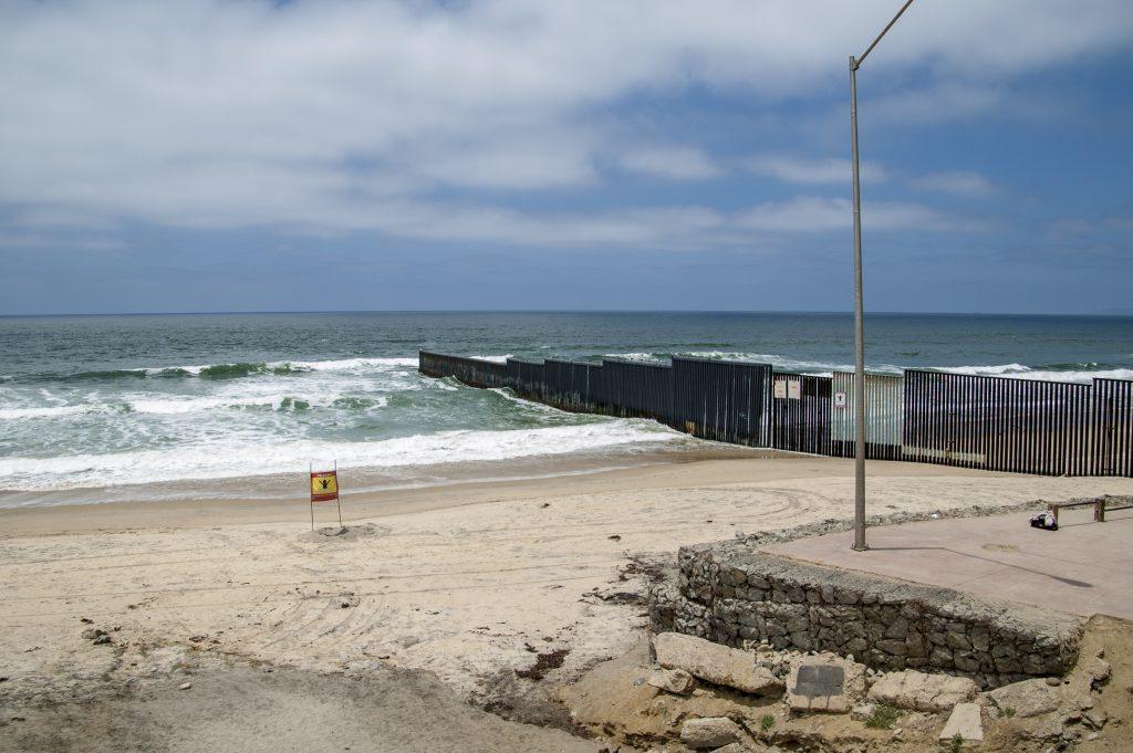 Border Fence at Playas de Tijuana, Tijuana, Baja California, Mexico