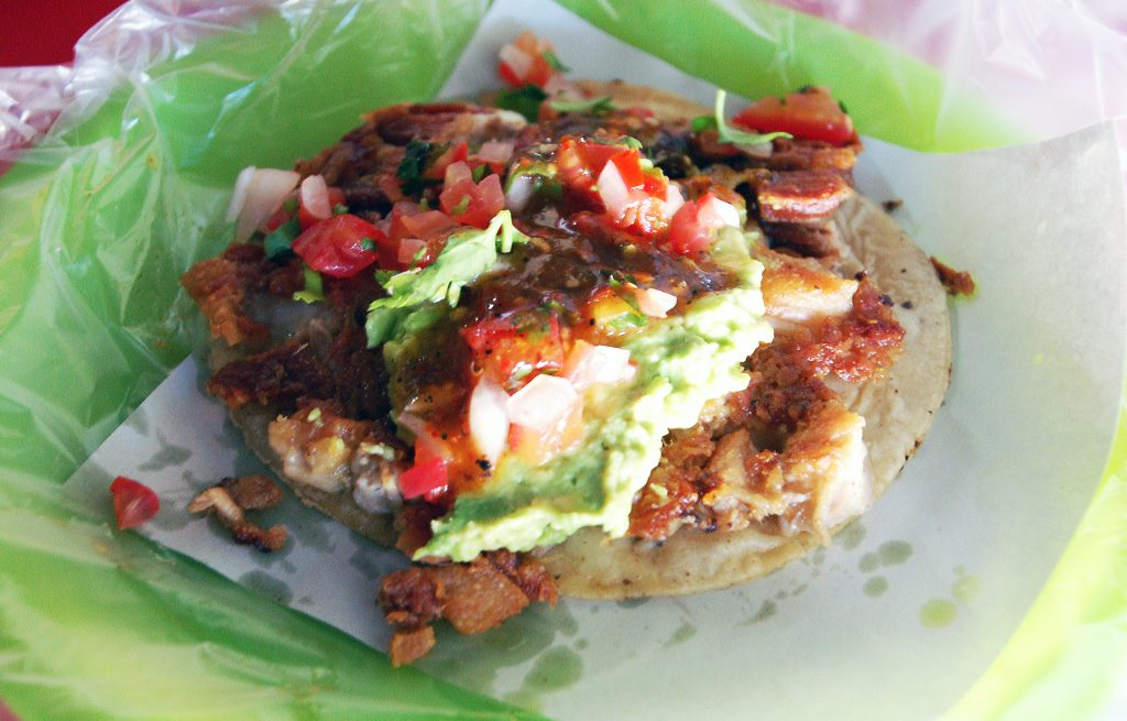 El Chavez taco at El Tio Pepe's, Tijuana, Baja California, Mexico