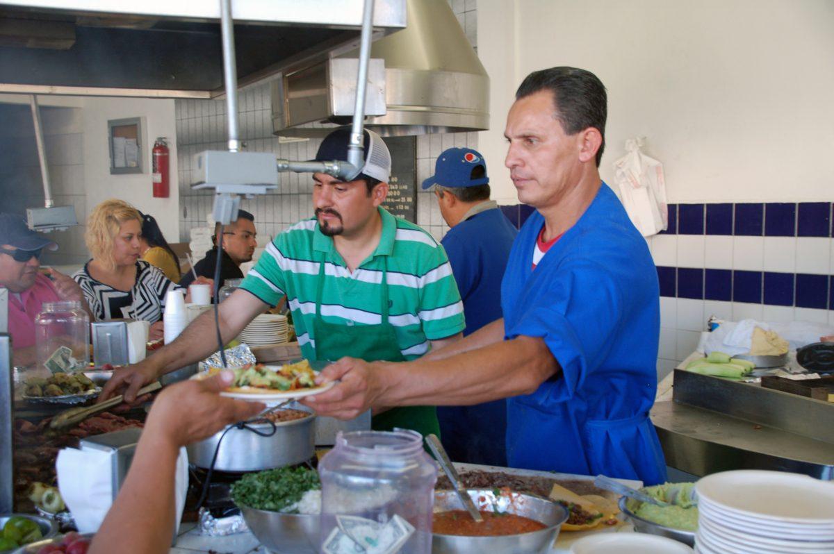 Taqueros at Taqueria El Franc, Tijuana, Baja California, Mexico
