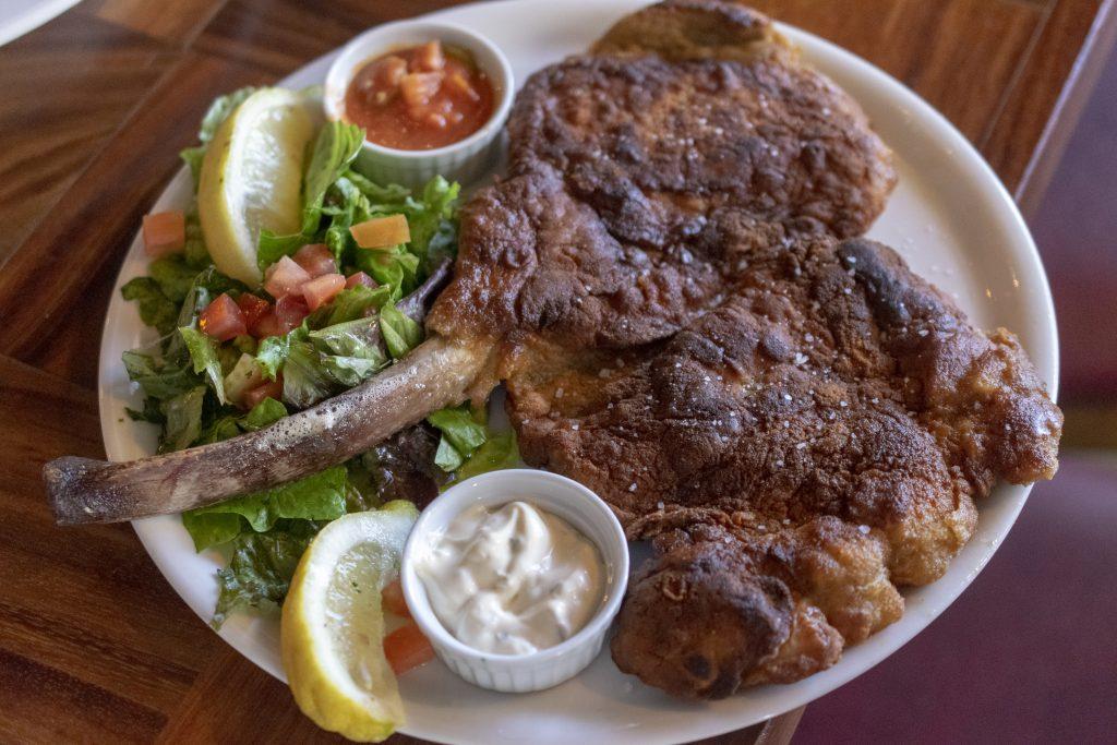Pork Tomahawk at Távolo, Hermosillo, Sonora, Mexico, Sonoran Cuisine, Food in Hermosillo, Hermosillo Restaurants