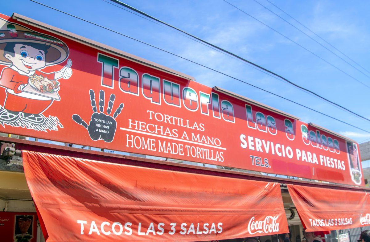 Taqueria La Tres Salsas at La Ahumaderas, Tijuana, Baja California, Mexico