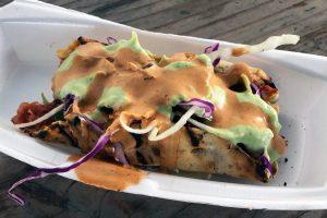 Taco de Marlin, Mariscos Ruben, Tijuana, Baja California, Mexico