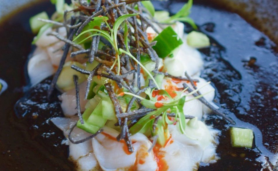 Geoduck Aguachile at Cantera, Valle de Guadalupe