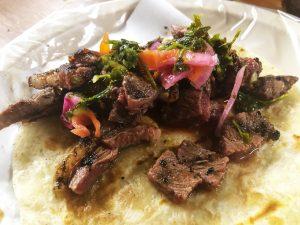 Carne Asada Taco at El Vaquero, Tijuana, Baja California, Mexico